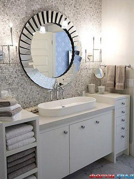 Элементы отделки зеркальной мозаикой