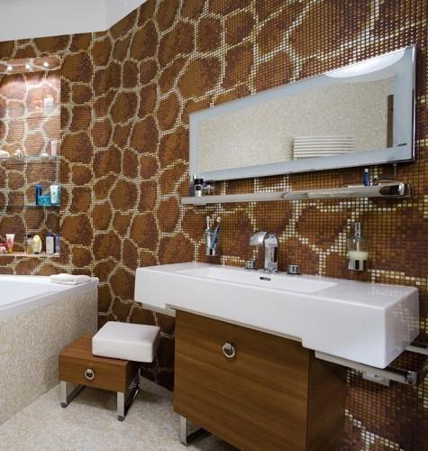 Декор пола и стен мозаичной плиткой