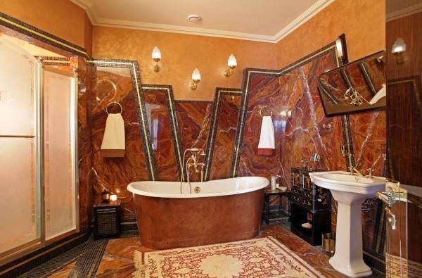 Эксклюзивный вариант отделки ванной комнаты
