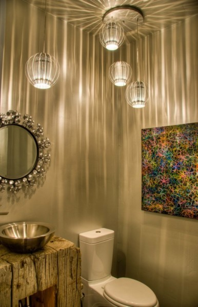Интерьер туалета в стиле модерн
