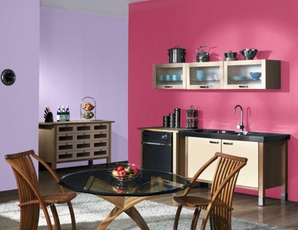 Кухня: отделка стен краской