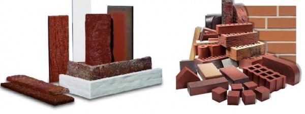 Некоторые виды облицовочных изделий из клинкера