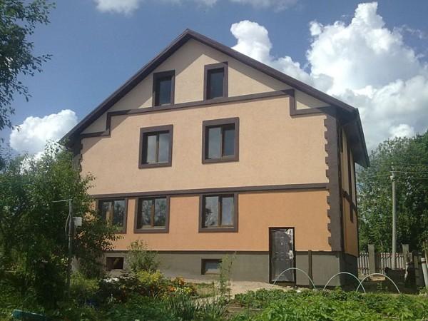 Фасад, отделанный клинкером