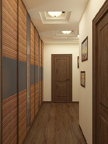 Бамбуковое напольное покрытие на стене