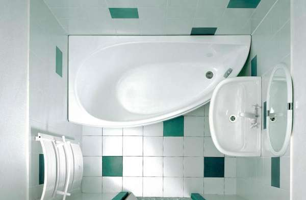 Традиционная компановка ванной комнаты