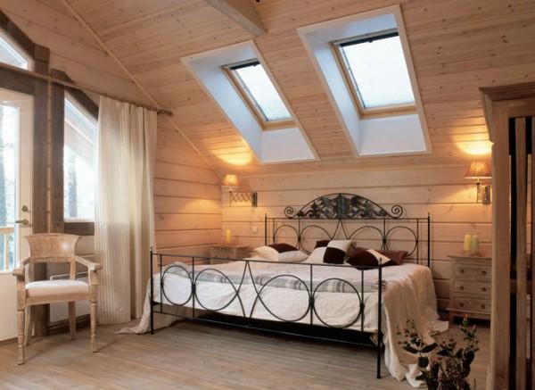 Обшивка потолка и стен мансарды вагонкой