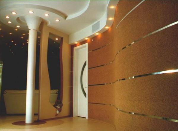 Отделка стен в коридоре пробковым покрытием