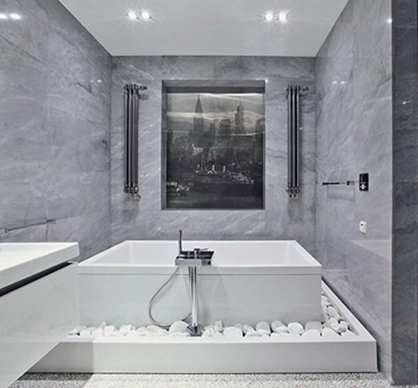 Отделка ванной комнаты натуральными материалами