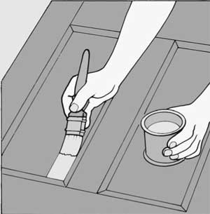 Нанесение слоев на дверь