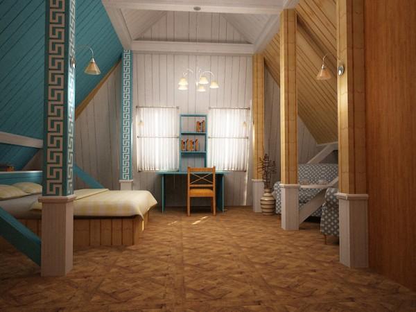 Зонирование помещения с помощью цвета
