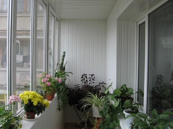 Внутренняя обшивка балкона сайдингом