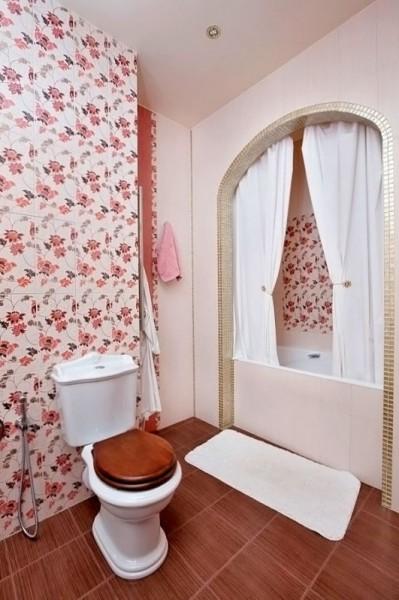Оригинальная отделка туалета