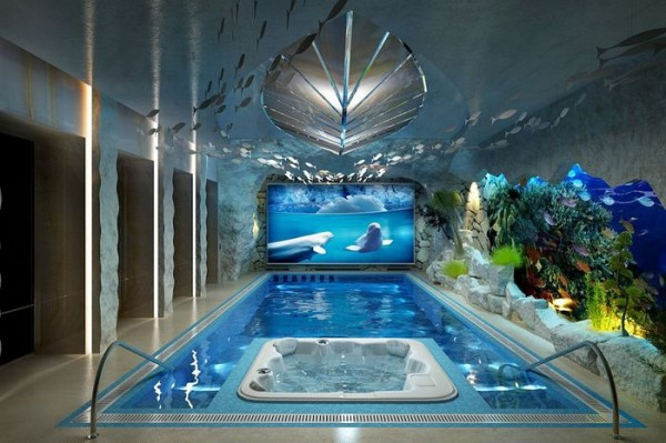Дизайнерская отделка помещения бассейна