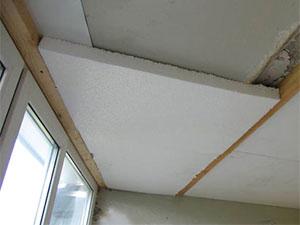 Утепляем потолок на балконе