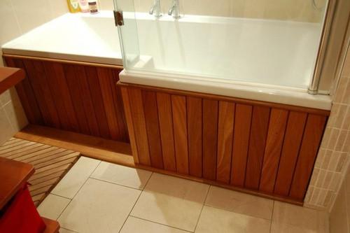 Комбинированная отделка ванной комнаты