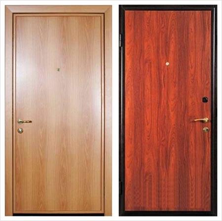 Ламинат в качестве отделочного материала для входной двери