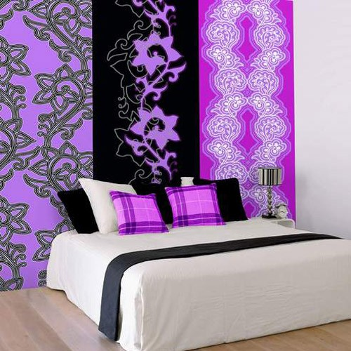 Дизайн спальни с помощью флизелиновых обоев