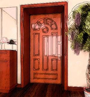 Приемы оформления двери