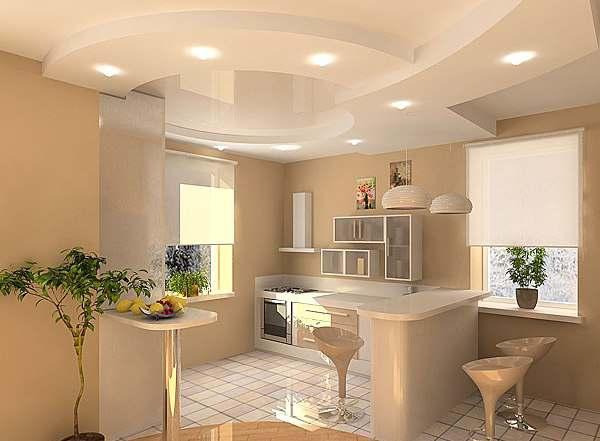 Отделка кухни частного дома в стиле модерн