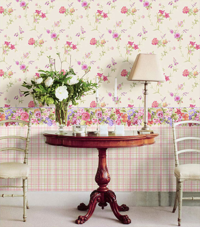 Дизайн комнат с обоями в цветочек