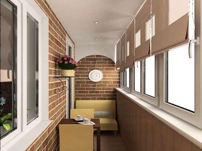 Фото отделки балконов и лоджий