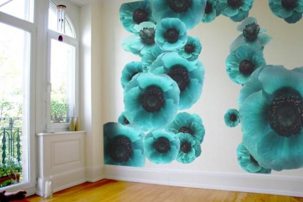 3Д обои в интерьере комнаты