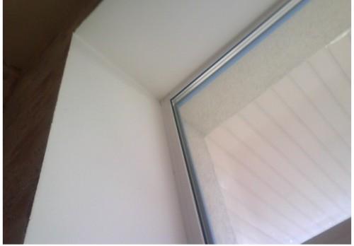 Выполнение откоса под пластиковое окно