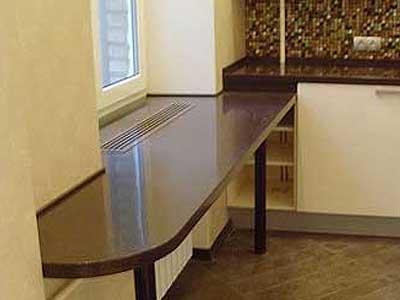 Подоконник с функцией стола