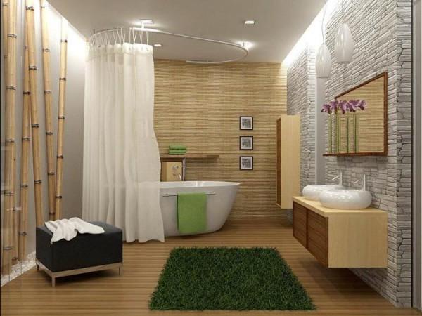 Ванная комната в подвальном помещении