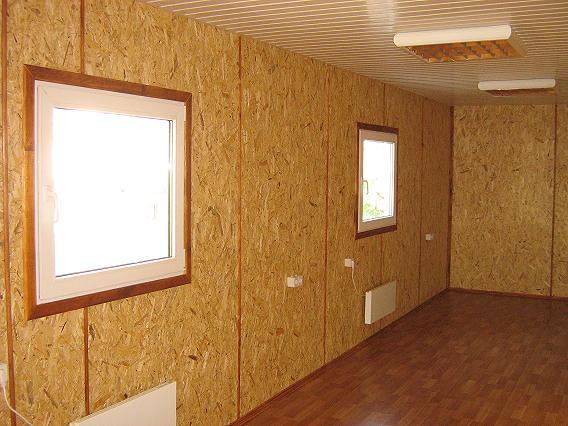 Обшивка стен гаража  ДСП