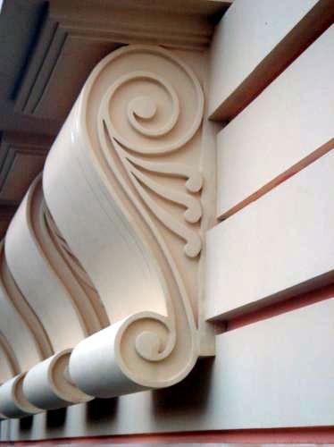 Монолитный элемент декора фасада