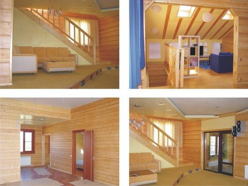 Особенности внутренней отделки дома из клееного бруса