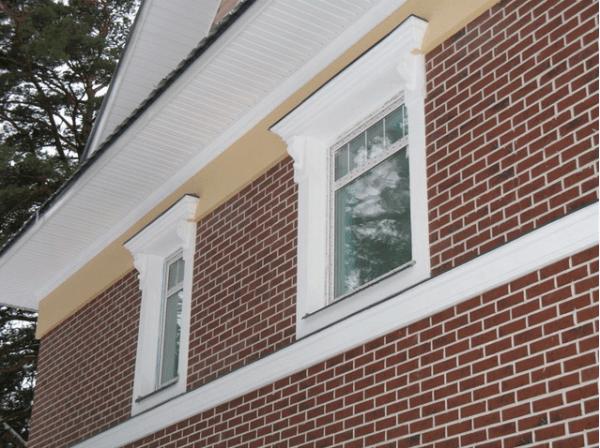 Фасад, облицованный клинкерной плиткой