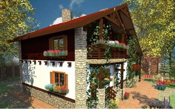 Фасад в стиле Кантри