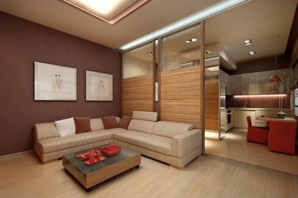 Кожаные и бамбуковые стеновые покрытия в дизайне дома