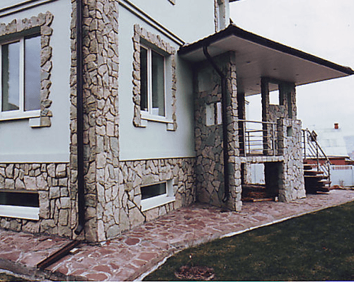 Фасадный камень для наружной отделки дома своими руками 14