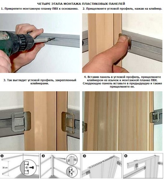 Монтаж панелей в деревянном доме