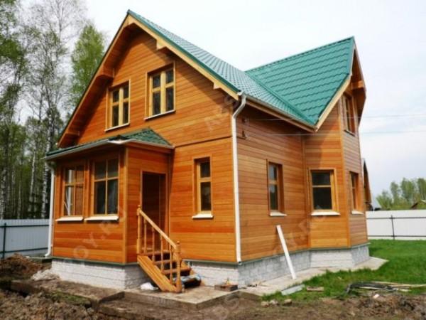 Облицовка фасада деревянного дома вагонкой