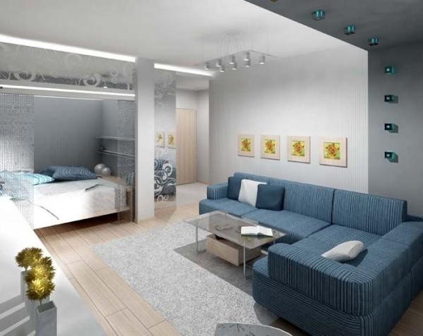 Ниша для кровати в однокомнатной квартире