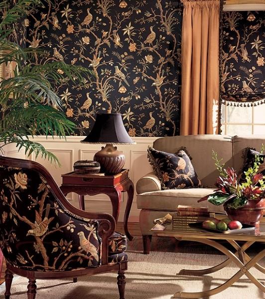 Обивка мебели в цвет обоев