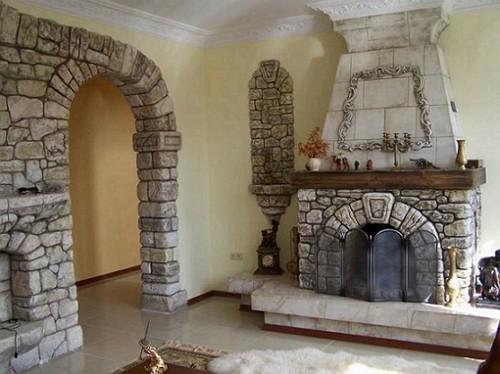 Отделка декоративным камнем в едином стиле
