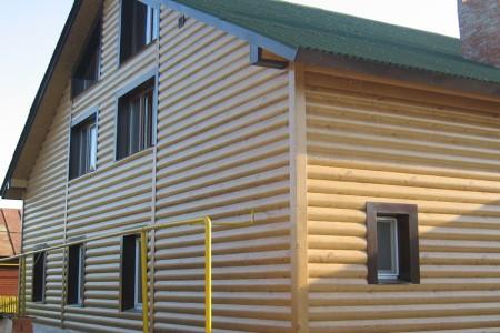Пример отделки помещения с применением блок хауса