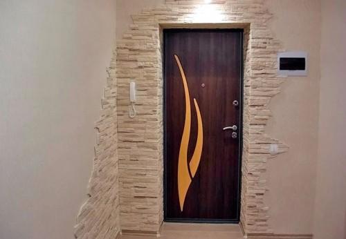 фото отделка камнем дверных проемов