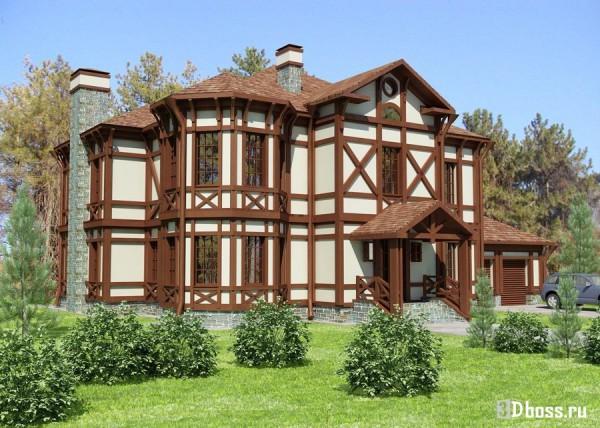 Дом, построенный в стиле фахверк