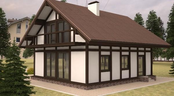 Скандинавский стиль оформления щитового дома