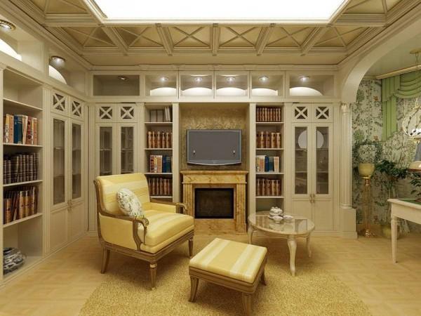 Деревянная гостиная в стиле Прованс