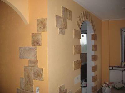Комбинированная отделка коридора