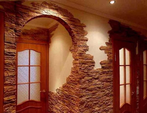 Декоративный камень способен перевоплотить  любое помещение