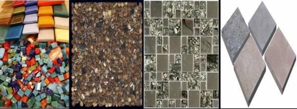 Разнообразие мозаичного материала и способы его изготовления