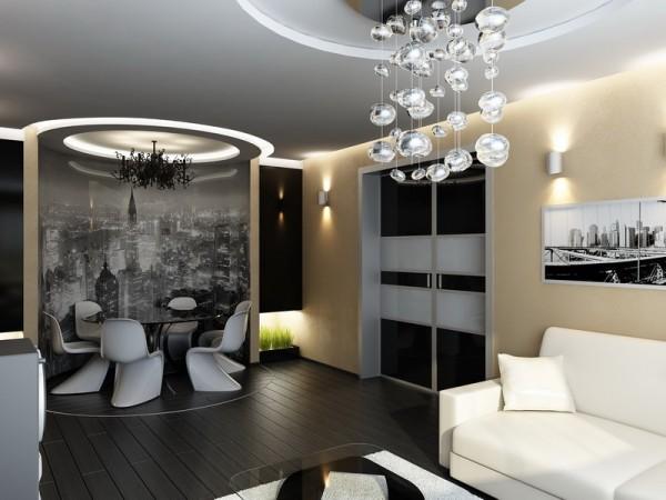 Современная отделка гостиной
